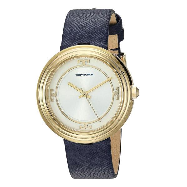 トリーバーチ 腕時計 Tory Burch TBW6101BAILEY WATCH, NAVY LEATHER/GOLD TONE/IVORY, 34 MM (Navy/Gold) レザーストラップ ウォッチ 時計 (ネイビー) 新作 正規品 アメリカ買付 レディース ジュエリー アクセサリー ギフト プレゼント