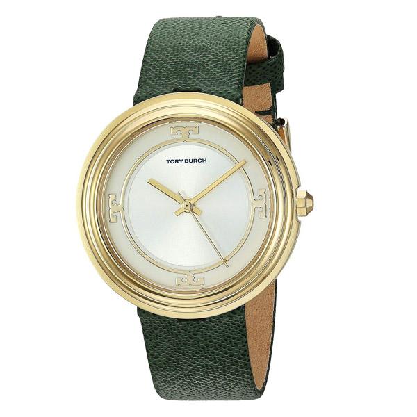 トリーバーチ 腕時計 Tory Burch TBW6102BAILEY WATCH, GREEN LEATHER/GOLD TONE/IVORY, 34 MM (Green/Gold) レザーストラップ ウォッチ 時計 (グリーン) 新作 正規品 アメリカ買付 レディース ジュエリー アクセサリー ギフト プレゼント