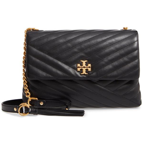 7447a1022b3 Tolly Birch shoulder bag 53102 Tory Burch KIRA CHEVRON FLAP SHOULDER BAG  (Black) Kira ...