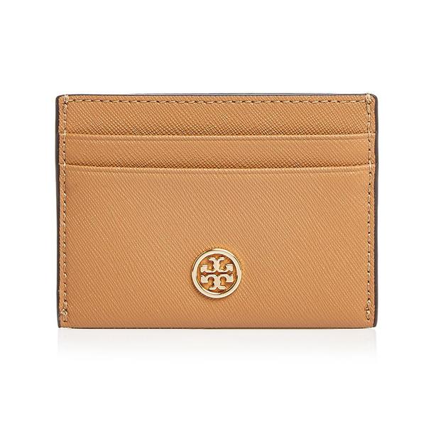 トリーバーチ カードケース Tory BurchRobinson Leather Card Case (Cardamom Brown) ロビンソン レザー カードケース (ブラウン) 新作 正規品 レディース 財布 カードホルダー クレジットカードケース