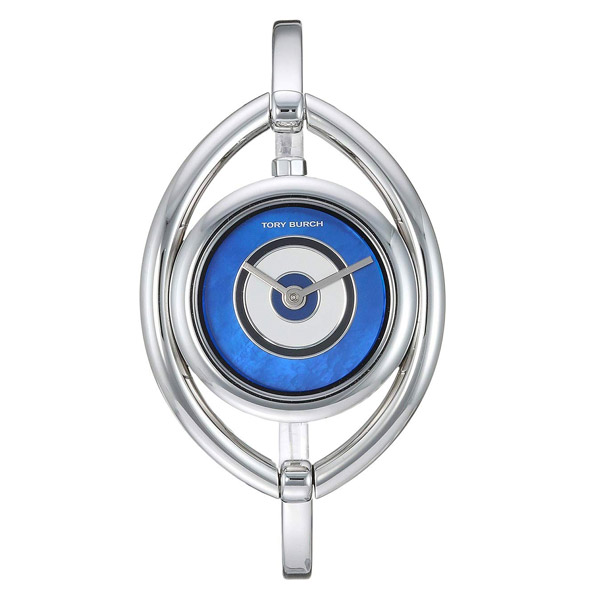 トリーバーチ 腕時計 Tory Burch TBW5003EVIL EYE BANGLE WATCH, STAINLESS STEEL/IVORY, 25 MM (Stainless Steel/Blue) イーブルアイ バングル ウォッチ 時計 (シルバー) Evil Eye Bangle Watch, 24.5mm 新作 正規品 レディース アクセサリー ジュエリー プレゼント