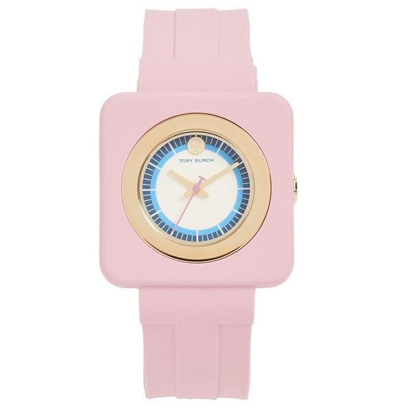 トリーバーチ 腕時計 Tory Burch The Izzie Watch, 36mm x 36mm (White/Pink) シリコンストラップ ウォッチ 時計 (ピンク) Izzie Square Silicone Strap Watch, 36mm 新作 正規品 レディース アクセサリー ジュエリー