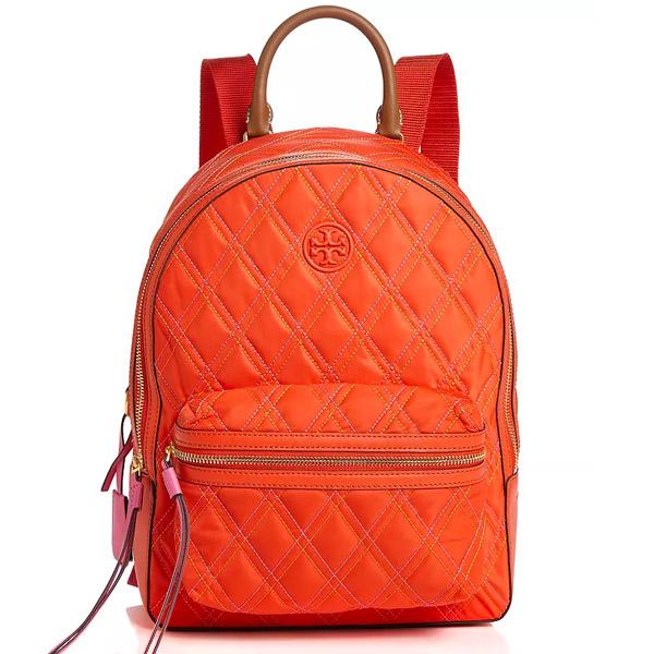トリーバーチ バックパック Tory Burch Perry Mixed-Stitch Nylon Backpack (Bright Samba) ペリー ミックスステッチ ナイロン バックパック (ブライトサンバ) Perry Quilted Nylon Backpack 新作 正規品 アメリカ買付 レディース バッグ リュックサック リュック