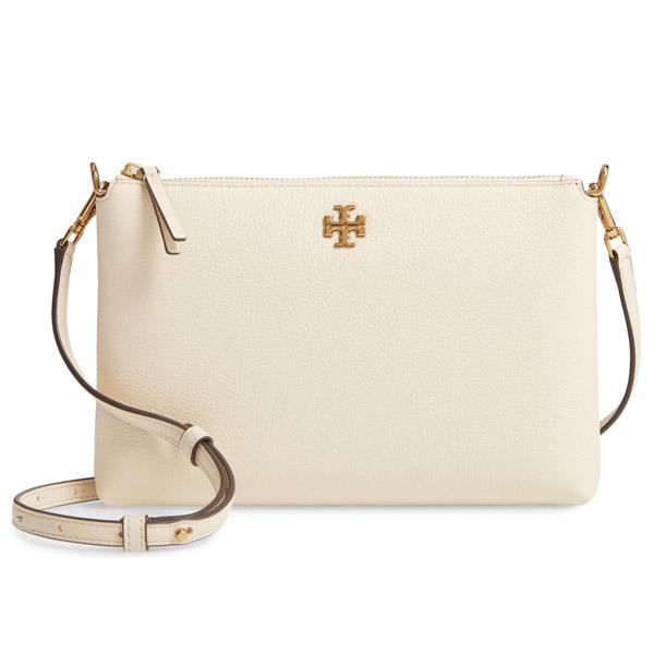 トリーバーチ ショルダーバッグ Tory Burch Kira Pebbled Leather Wallet Crossbody Bag (New Cream) キラ レザー ウォレット ショルダーバッグ (ニュークリーム) 新作 正規品 アメリカ買付 レディース ミニバッグ ポシェット クロスボディバッグ