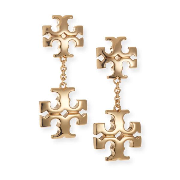 トリーバーチ ピアス Tory Burch 71759 KIRA LINEAR EARRING (Tory Gold) キラ ライナー ドロップ ピアス (ゴールド) Logo Double-Drop Stud Earrings 新作 正規品 アメリカ買付 レディース ジュエリー アクセサリー ギフト