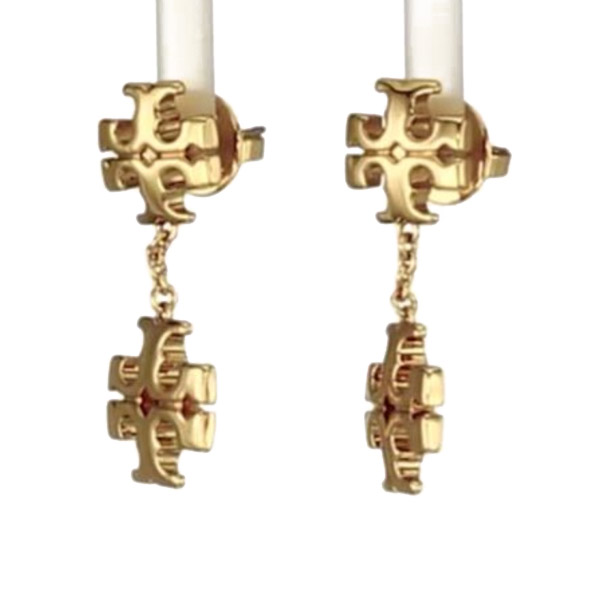 トリーバーチ ピアス Tory Burch 71759 KIRA LINEAR EARRINGTory Goldキラ ライナー ドロップ ピアスゴールドLogo Double Drop Stud Earrings 新作 正規品 アメリカ買付 レディース ジュエリー アクセサリー ギフトL53ARj4q