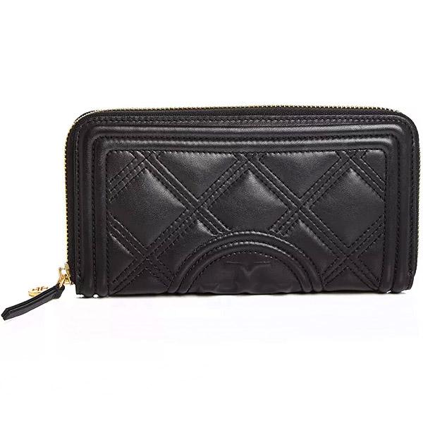 トリーバーチ 長財布 Tory Burch Fleming Quilted Leather Continental Wallet (Black) フレミング キルティングレザー コンチネンタル ウォレット 財布 (ブラック) Fleming Quilted Leather Continental Wallet 新作 正規品 アメリカ買付 レディース