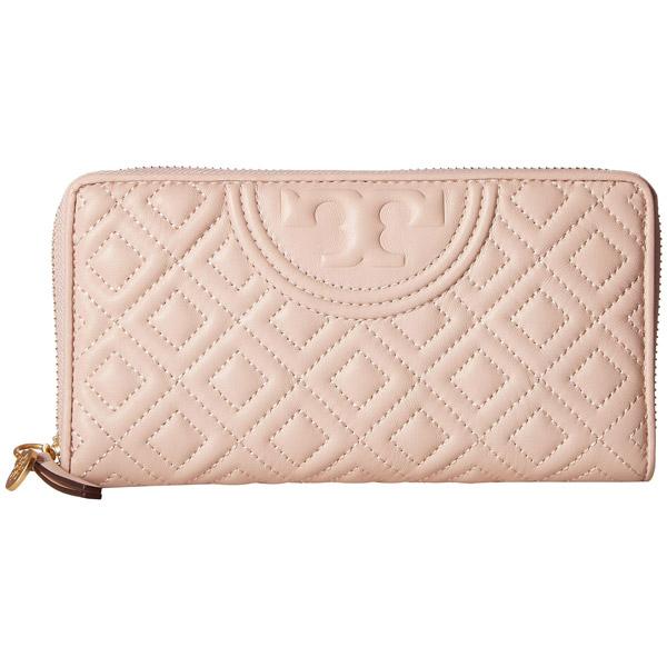 トリーバーチ 長財布 Tory Burch 50265FLEMING ZIP CONTINENTAL WALLET (Shell Pink) フレミング ジップ コンチネンタル ウォレット 財布 (シェルピンク) Fleming Zip-Around Leather Wallet 新作 正規品 アメリカ買付 レディース 財布