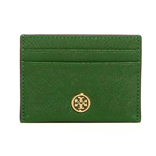トリーバーチ カードケース Tory Burch 54886ROBINSON CARD CASE (Arugula) ロビンソン レザー カードケース (グリーン系) 新作 正規品 レディース 財布 カードホルダー クレジットカードケース