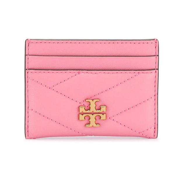 トリーバーチ カードケース Tory Burch 56815 KIRA CHEVRON CARD CASE (Pink City) キラ シェブロン レザー カードケース (ピンクシティ) Kira Chevron Leather Card Case 新作 正規品 レディース 財布 コンパクト カードホルダー