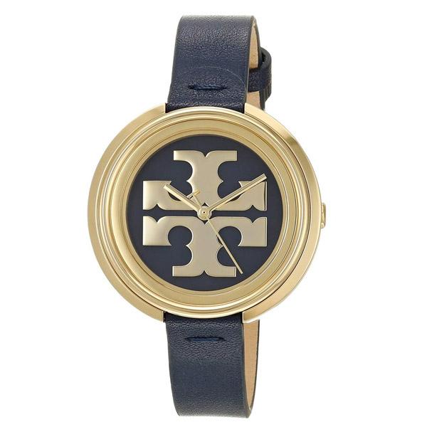 トリーバーチ 腕時計 Tory Burch TBW6203 MILLER WATCH, NAVY LEATHER/GOLD, 36 MM (Navy/Gold) ミラー レザー ウォッチ 時計 (ネイビー) Miller Navy Leather Strap Watch 36mm 新作 正規品 アメリカ買付 レディース アクセサリー ギフト
