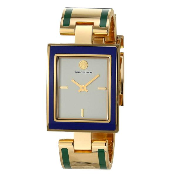 トリーバーチ 腕時計 Tory Burch TBW5050 BUDDY BANGLE WATCH, GOLD-TONE/MULTI-COLOR/CREAM, 26 X 32 MM (Ivory/Gold/Blue/Green) バングル ウォッチ 時計 (マルチ) 新作 正規品 アメリカ買付 レディース アクセサリー ギフト