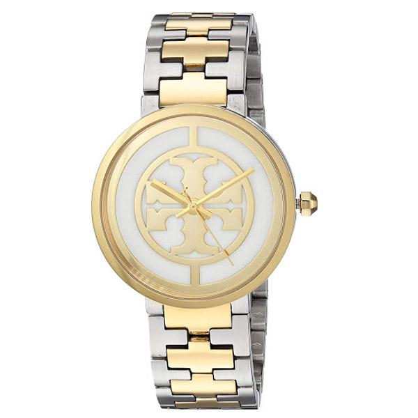 トリーバーチ 腕時計 Tory Burch TBW4027 REVA WATCH, TWO-TONE GOLD/STAINLESS STEEL/IVORY, 36 MM (Gold/Silver/Ivory) リーヴァ ウォッチ 時計(ゴールド/シルバー) Reva Two-Tone Stainless Steel Bracelet Watch 36mm