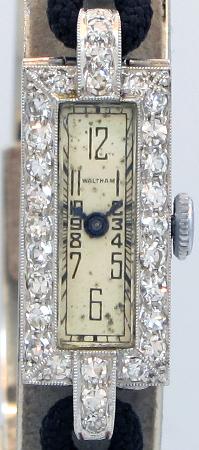 WALTHAM ウォルサム海外直輸入品【ヴィンテージ】レディース Pt製 ダイヤモンド装飾 アンティークウォッチ 1930's
