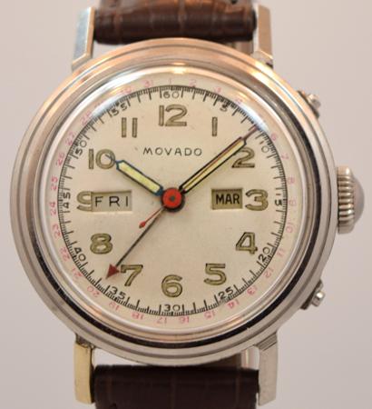 MOVADO モバド海外直輸入品【ヴィンテージ】トリプルデイト カレンダー アンティークウォッチ 1950's