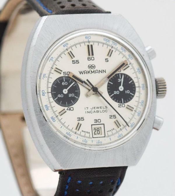 WAKMANN海外直輸入品【ヴィンテージ】ツーレジスター クロノグラフ アンティークウォッチ 1970's