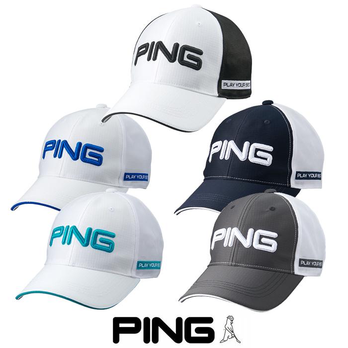 売店 日本正規品 ゴルフ 帽子 ピン PING HW-P213 CAP 超撥水機能 35514 タイムセール キャップ 撥水メッシュ