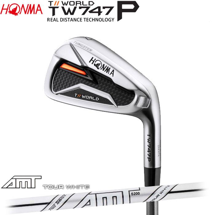 ホンマゴルフ HONMA TOUR WORLD TW747 P アイアン AMT TOUR WHITE 単品 1本(予約受付中11月16日発売)