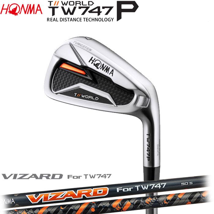 ホンマゴルフ HONMA TOUR WORLD TW747 P アイアン VIZARD For TW747 for IRON 5~10 (6本セット)