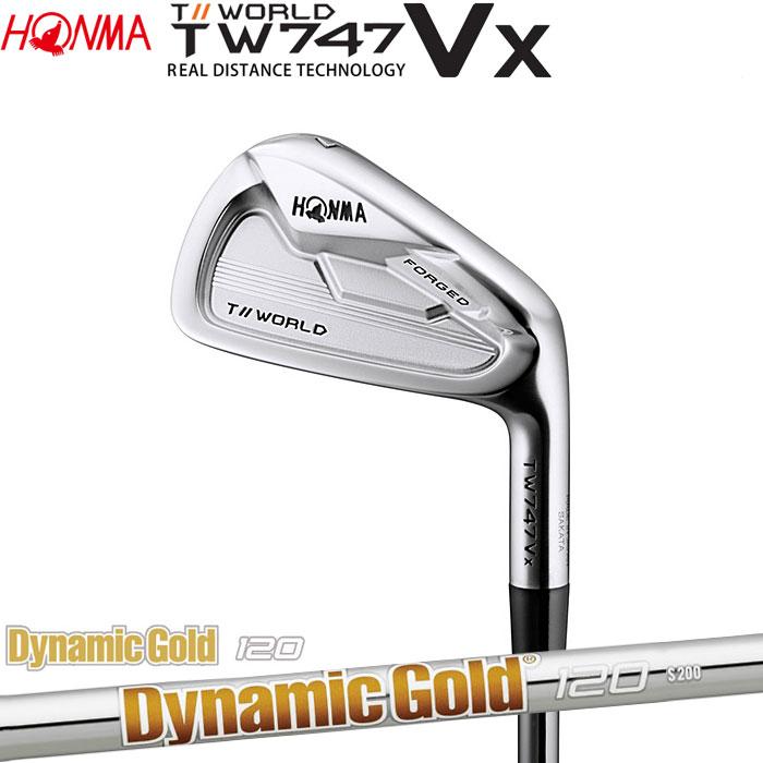 ホンマゴルフ HONMA TOUR WORLD TW747 VX アイアン Dynamic Gold 120 5~10 (6本セット)