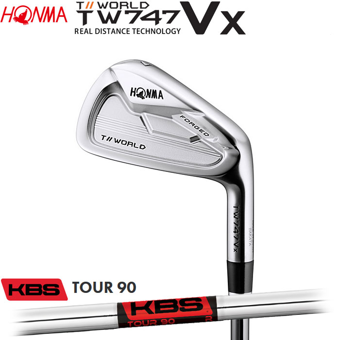 ホンマゴルフ HONMA TOUR WORLD TW747 VX アイアン KBS TOUR90 5~10 (6本セット)