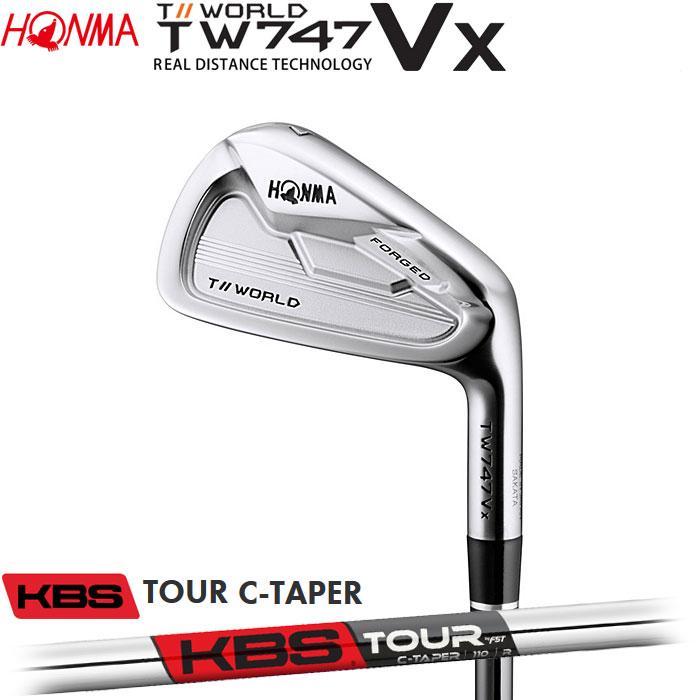 【4/16 01:59までポイントアップ!】ホンマゴルフ HONMA TOUR WORLD TW747 VX アイアン KBS TOUR C-TAPER 5~10 (6本セット)