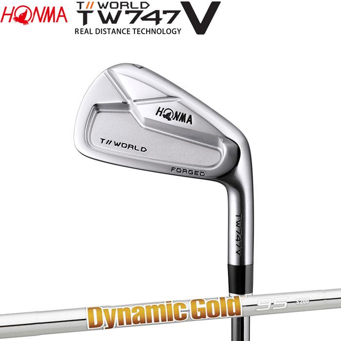 【4/16 01:59までポイントアップ!】ホンマゴルフ HONMA TOUR WORLD TW747 V アイアン Dynamic Gold 95 単品 1本