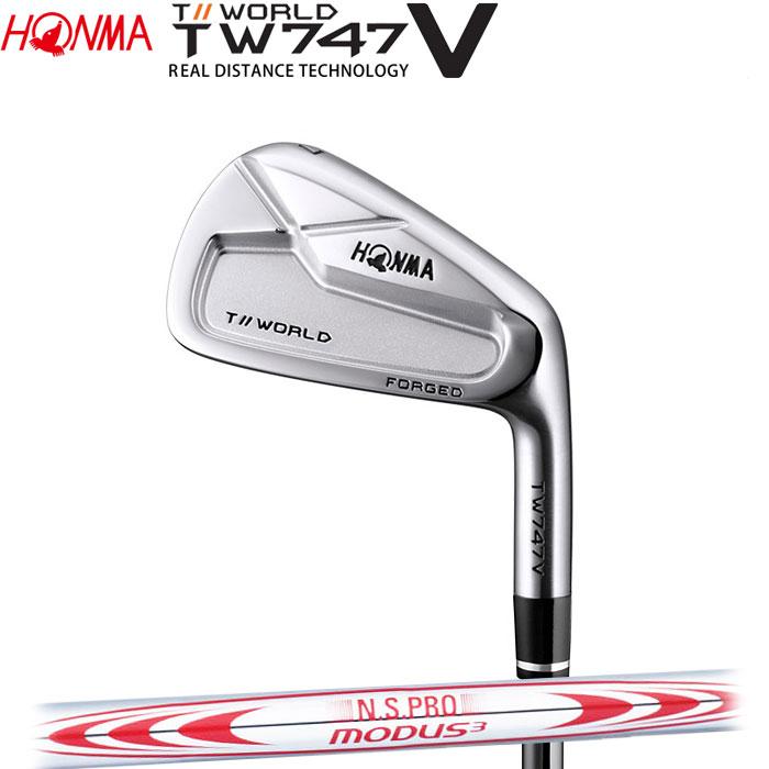 【4/16 01:59までポイントアップ!】ホンマゴルフ HONMA TOUR WORLD TW747 V アイアン N.S.PRO MODUS3 TOUR 130 単品 1本