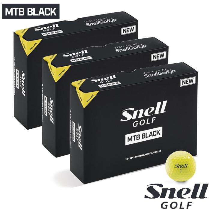 スネルゴルフ 2019 BLACK SNELL GOLF NEW MTB 36球 BLACK ボール NEW イエロー 3ダース 36球, galaxy:7be688e6 --- per-ros.com