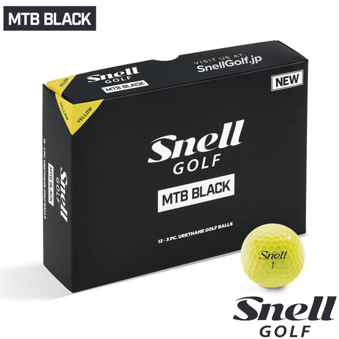 スネルゴルフ 2019 SNELL GOLF NEW MTB BLACK ボール イエロー 5ダース 60球
