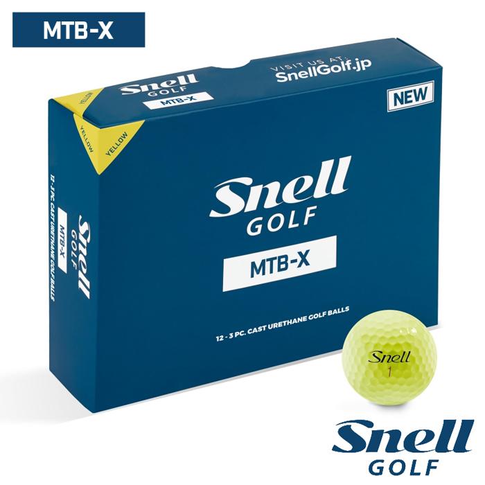 スネルゴルフ SNELL GOLF MTB-X イエロー ボール 5ダース 60球