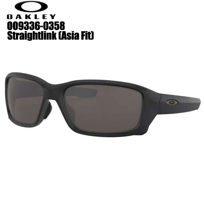 オークリー OAKLEY OO9336-0358 STRAIGHTLINK (A) ゴルフサングラス Matte Black /Warm Grey