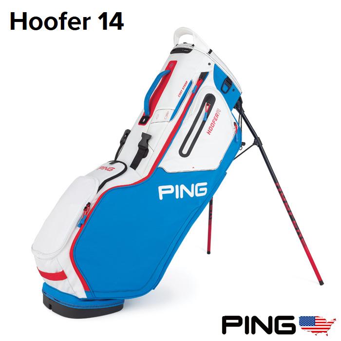 ピンゴルフ PING HOOFER 14 スタンドキャディバッグ USモデル 34732-04 フーファー 14 Bright Blue/White/Scarlet