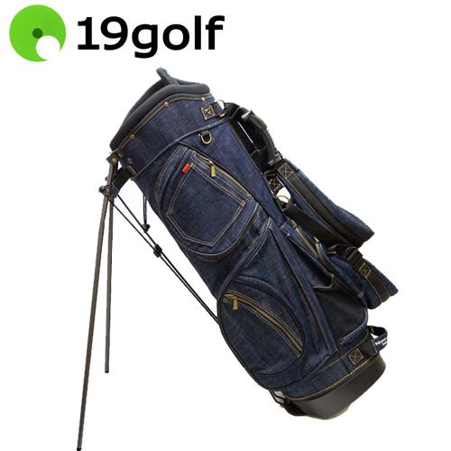 【送料無料(一部地域除く)】 19ゴルフ デニム キャディバッグ インディゴブルー 8.5型 CBSTI20 19golf