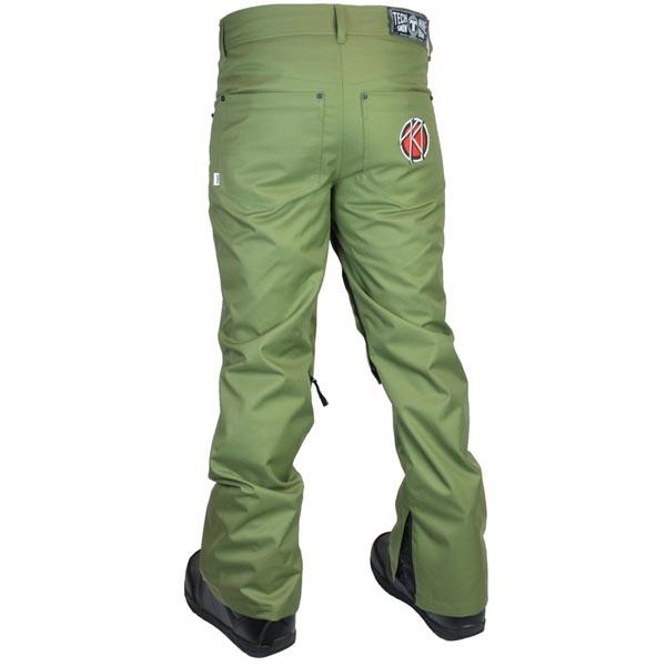 TECH NINE(TEC九)SLIMISH STRETCH DENIM PANT SHELL單板滑雪褲子人ARMY GREEN