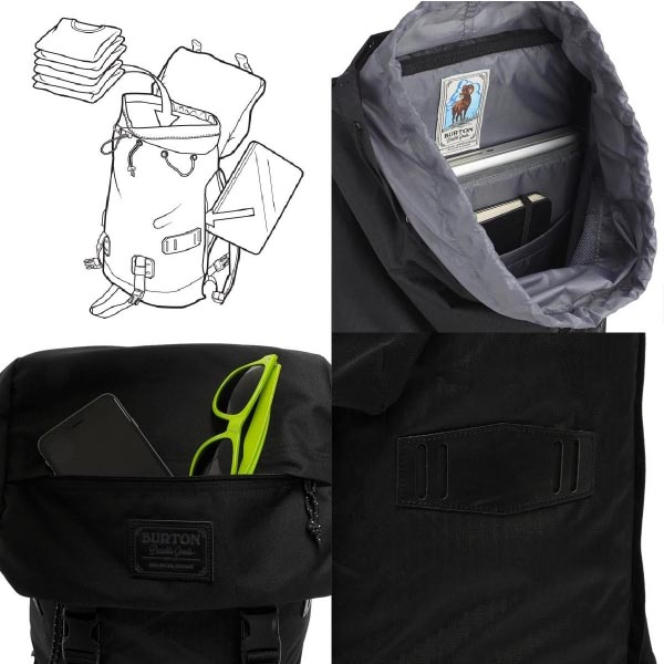 I commute by BURTON (Burton) TINDER PACK [25L] Tandori Ripstop backpack bicycle and go to school and conduct a business