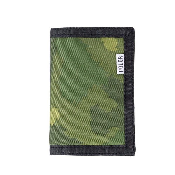 POLER CAMPING STUFF(polar)TRI-FOLD WALLET GCAMO錢包錢包硬幣袋