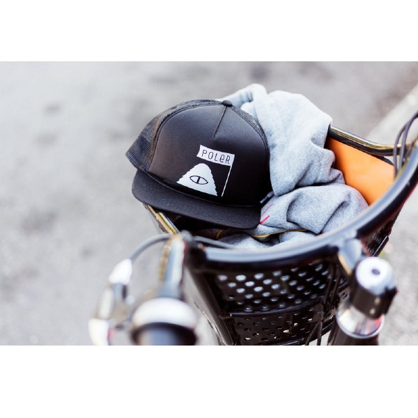 【12時までなら即日発送!】【あす楽】POLERCAMPINGSTUFF(ポーラー)SUMMITMESHTRACKERBLACKサミットメッシュトラッカ−キャップメッシュキャップ帽子CAP