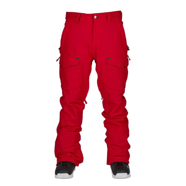 BONFIRE(ボンファイア)MENS ZONE STRETCH PANT W/WAIST GAITER RED ERGO FIT ウェア パンツ メンズ スノーボード スノボー