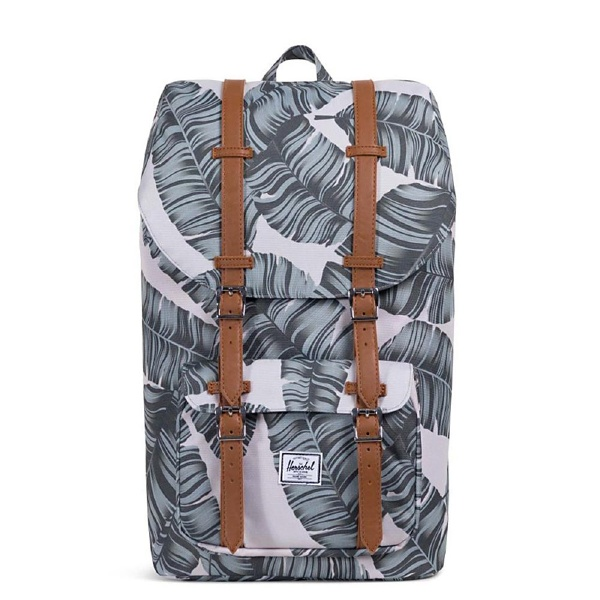 HERSCHEL(ハーシェル)Little America Silver Birch Palm/Tan Synthetic Leather 10014-01851-OS リュックサック バックパック 通学 通勤 軽量