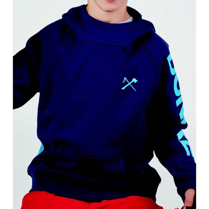 2019-2020 メーカーサンプル品 正規代理店モデル BONFIRE ボンファイア YOUTH GET 特別セール品 IT PUL OVER スノーボード ジュニア 売れ筋 スノボー MEDIEVAL BLUE ウェア ジャケット HOODED