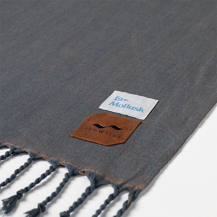 SLOWTIDE(スロータイド)ST253SOLBLANKETDUSTYBLUEバスタオルブランケット綿100%ひざ掛け膝掛けレジャーシート