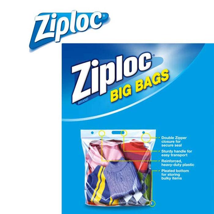ジップロックビッグバッグXLサイズ防水バック大きいサイズ4枚
