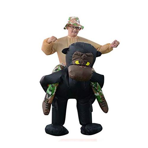 ★今アメリカで大人気★めっちゃリアル!!チンパンジーに乗った風着ぐるみ