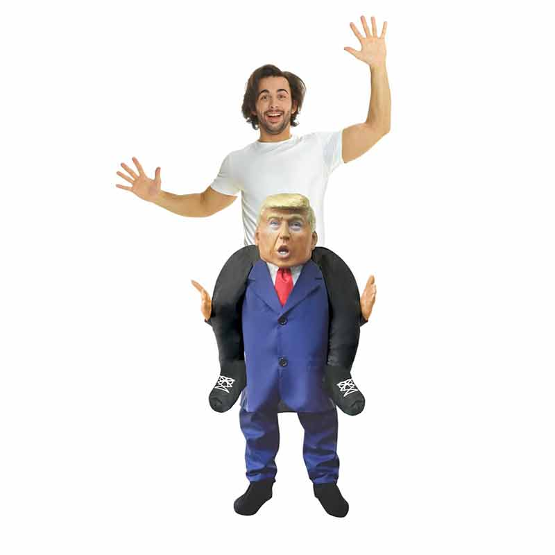 ★今アメリカで大人気★めっちゃリアル!!肩車トランプ大統領着ぐるみ