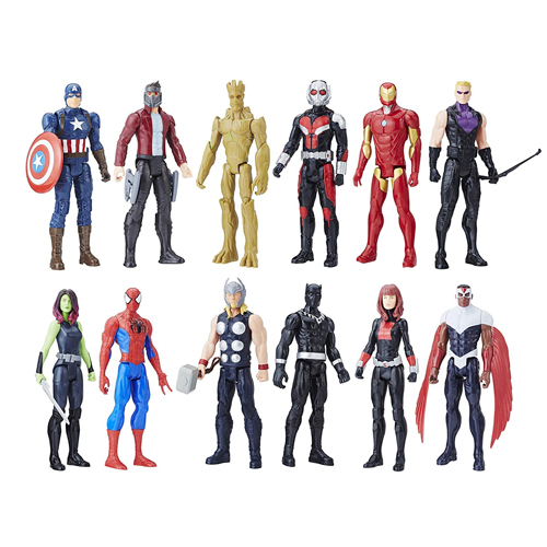 『アベンジャーズ 』 タイタンヒーローシリーズ フィギュア 12セット Avengers Titan Hero Series 12 Action Figures