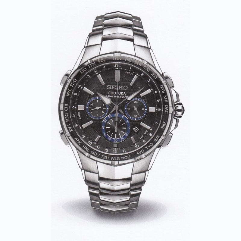 SEIKOセイコー メンズ腕時計 クロノグラフ COUTURA SSG009