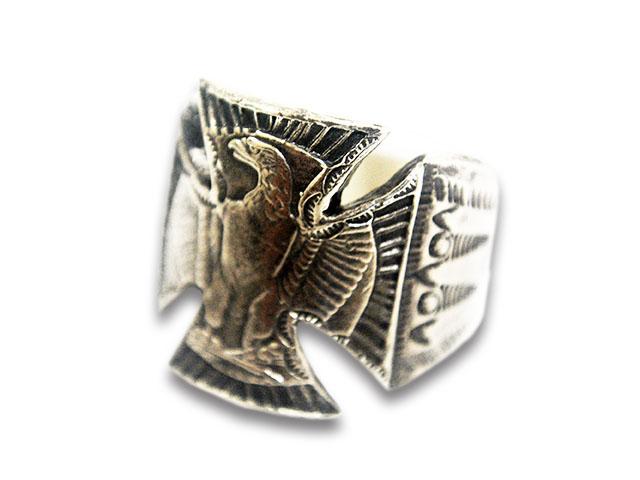 【BLUCO WORK GARMENT/ブルコワークガーメント】×【CHOOKE/チョーク】「Eagle Iron Cross Ring/イーグルアイアンクロスリング」【送料・代引き手数料無料】【あす楽対応】(B.W.G/UNCROWD/アンクラウド/アメカジ/オールドコイン/ハーレー)