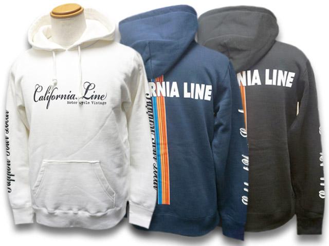 全3色【CALIFORNIA LINE/カリフォルニアライン】2019AW「Rainbow Pullover Parka/レインボープルオーバーパーカー」【送料・代引き手数料無料】【あす楽対応】(SKULL FLIGHT/スカルフライト/ハーレー/バイク/アメカジ/ホットロッド)