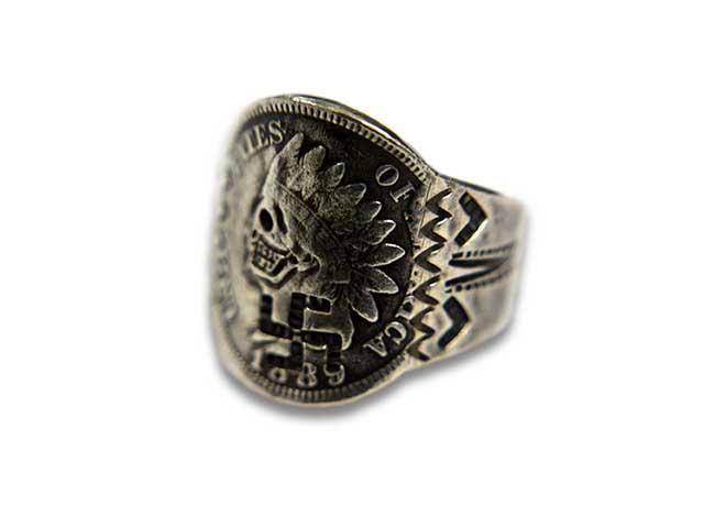 "【CHOOKE/チョーク】""Indian Skull Ring-S/インディアンスカルリング-S""(C-1)【送料・代引き手数料無料】【あす楽対応】(オールドコイン/アンティークコイン/ヴィンテージコイン/ネイティブアクセサリー)"